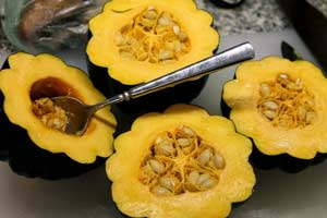 cooked acorn squash helps to improve memory